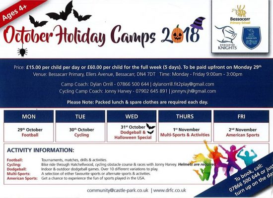 October Half Term Holiday Camps